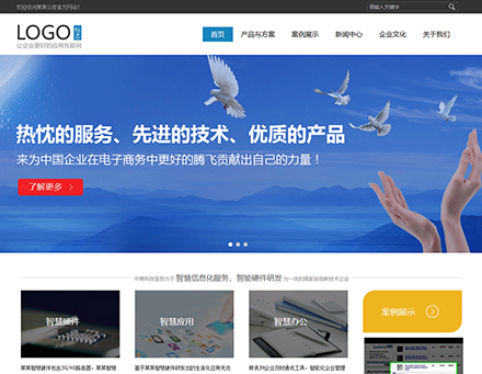 IT软件公司网站模板COM020