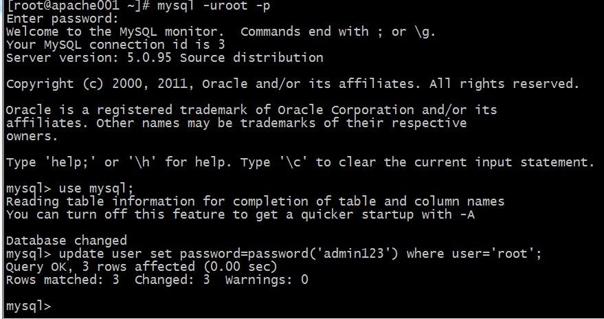 CentOS下MySQL忘记root密码解决方法